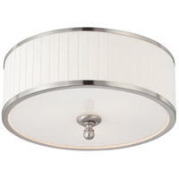 Candice 3 Light 15 inch Brushed Nickel Flushmount Ceiling Light