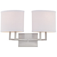 Gemini 2 Light 18 inch Brushed Nickel Vanity & Wall Wall Light