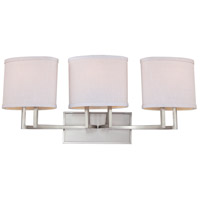 Gemini 3 Light 27 inch Brushed Nickel Vanity & Wall Wall Light