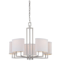 Gemini 5 Light 25 inch Brushed Nickel Chandelier Ceiling Light