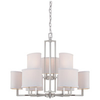 Gemini 9 Light 31 inch Brushed Nickel Chandelier Ceiling Light