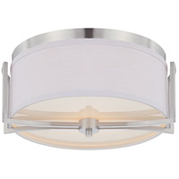 Gemini 2 Light 15 inch Brushed Nickel Semi-Flush Ceiling Light