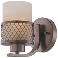 Nuvo Lighting Fusion 1 Light Vanity & Wall in Hazel Bronze 60/4781