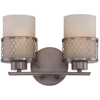 Nuvo Lighting Fusion 2 Light Vanity & Wall in Hazel Bronze 60/4782