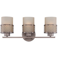 Nuvo Lighting Fusion 3 Light Vanity & Wall in Hazel Bronze 60/4783