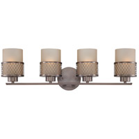Nuvo Lighting Fusion 4 Light Vanity & Wall in Hazel Bronze 60/4784