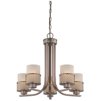 Nuvo Lighting Fusion 5 Light Chandelier in Hazel Bronze 60/4785