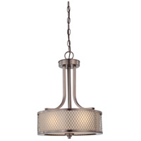 Nuvo Lighting Fusion 3 Light Pendant in Hazel Bronze 60/4786