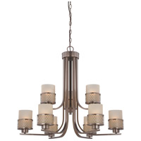Nuvo Lighting Fusion 9 Light Chandelier in Hazel Bronze 60/4789