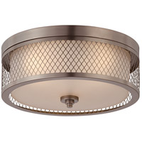 Nuvo Lighting Fusion 3 Light Flushmount in Hazel Bronze 60/4791