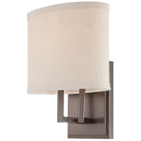 Nuvo 60/4851 Gemini 1 Light 8 inch Hazel Bronze Vanity & Wall Wall Light