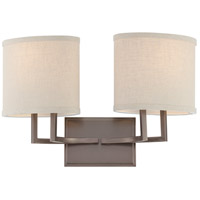 Gemini 2 Light 18 inch Hazel Bronze Vanity & Wall Wall Light