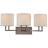 Gemini 3 Light 27 inch Hazel Bronze Vanity & Wall Wall Light