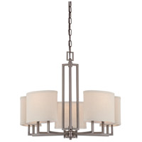 Gemini 5 Light 25 inch Hazel Bronze Chandelier Ceiling Light