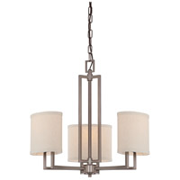 Gemini 3 Light 21 inch Hazel Bronze Chandelier Ceiling Light