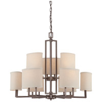 Gemini 9 Light 31 inch Hazel Bronze Chandelier Ceiling Light