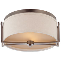 Gemini 2 Light 15 inch Hazel Bronze Flushmount Ceiling Light