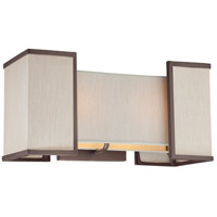 Nuvo Lighting Labyrinth 2 Light Wall Sconce in Henna Bronze 60/4872 photo thumbnail