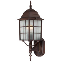 Adams 1 Light 18 inch Rustic Bronze Outdoor Wall Lantern