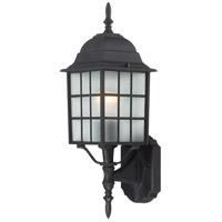 Adams 1 Light 18 inch Textured Black Outdoor Wall Lantern