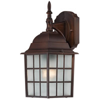 Adams 1 Light 14 inch Rustic Bronze Outdoor Wall Lantern