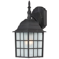 Adams 1 Light 14 inch Textured Black Outdoor Wall Lantern