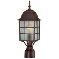 Adams 1 Light 18 inch Rustic Bronze Post Light