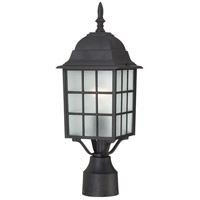 Nuvo Lighting Adams 1 Light Post Light in Textured Black 60/4909