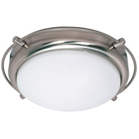 Nuvo Lighting Polaris 2 Light Flushmount in Brushed Nickel 60/491