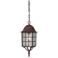 Adams 1 Light 6 inch Rustic Bronze Outdoor Hanging Lantern