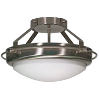 Polaris 2 Light 14 inch Brushed Nickel Semi-Flush Ceiling Light