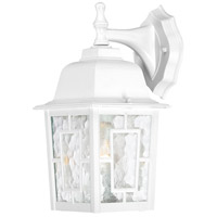 Nuvo Lighting Banyon 1 Light Outdoor Wall Lantern in White 60/4921