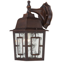 Nuvo Lighting Banyon 1 Light Outdoor Wall Lantern in Rustic Bronze 60/4922