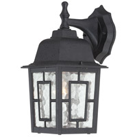 Nuvo Lighting Banyon 1 Light Outdoor Wall Lantern in Textured Black 60/4923