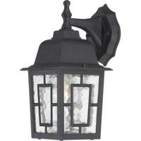 Nuvo Lighting Banyon 1 Light Outdoor Wall Lantern in Textured Black 60/4923