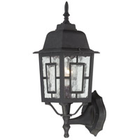 Nuvo Lighting Banyon 1 Light Outdoor Wall Lantern in Textured Black 60/4926