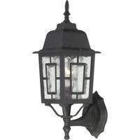 Nuvo Lighting Banyon 1 Light Outdoor Wall Lantern in Textured Black 60/4926