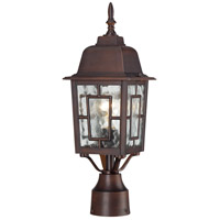Banyon 1 Light 17 inch Rustic Bronze Post Light