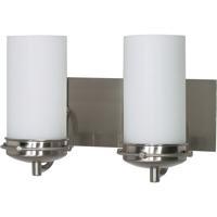Nuvo 60/495 Polaris 2 Light 14 inch Brushed Nickel Vanity & Wall Wall Light