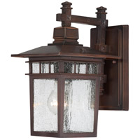 Cove Neck 1 Light 12 inch Rustic Bronze Outdoor Wall Lantern