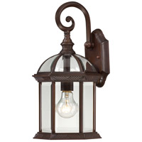 Nuvo Lighting Boxwood 1 Light Outdoor Wall in Rustic Bronze 60/4962