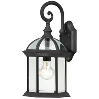Boxwood 1 Light 16 inch Textured Black Outdoor Wall Lantern