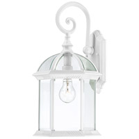 Nuvo Lighting Boxwood 1 Light Outdoor Wall Lantern in White 60/4964