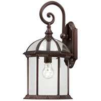 Nuvo Lighting Boxwood 1 Light Outdoor Wall Lantern in Rustic Bronze 60/4965