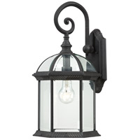 Boxwood 1 Light 19 inch Textured Black Outdoor Wall Lantern