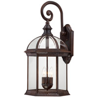 Nuvo 60/4968 Boxwood 3 Light 26 inch Rustic Bronze Outdoor Wall Lantern