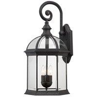 Nuvo Lighting Boxwood 3 Light Outdoor Wall Lantern in Textured Black 60/4969