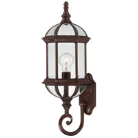 Nuvo Lighting Boxwood 1 Light Outdoor Wall Lantern in Rustic Bronze 60/4972