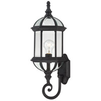 Nuvo Lighting Boxwood 1 Light Outdoor Wall in Textured Black 60/4973