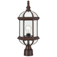 Boxwood 1 Light 19 inch Rustic Bronze Post Light